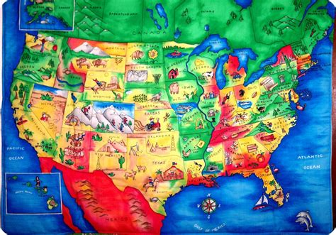 kid map of usa united states map