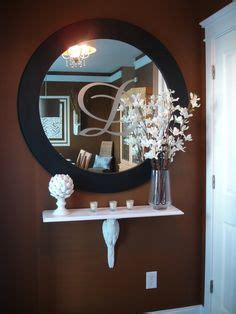 upstairs hallway table with mirrors and plants big narrow hallway decor solution cut a table in half and