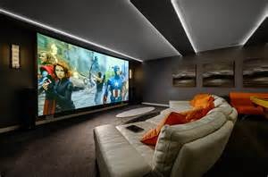 Home Cinema Interior Design by Home Theater As Addition To Large Modern Interior Small