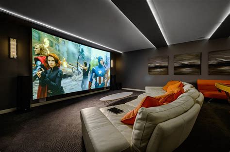 movie theater decor for the home home theater as addition to large modern interior small