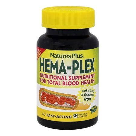 Natures Plus Pow Plex 60 Tablet nature s plus hema plex 60 vegetarian capsules
