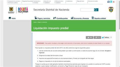 consulta de impuesto predial consulta y pago del impuesto predial colombia