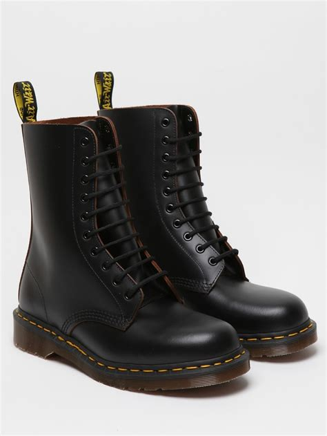 mens doc martens boots dr martens 1490 10 eye boot black looks