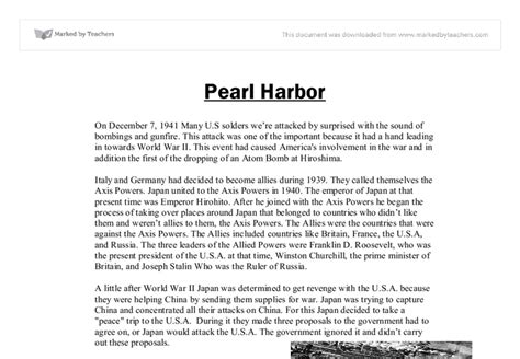 Attack On Pearl Harbor Essay by Pearl Harbor Essay Essays On Pearl Harbor Pearl Harbor Essay Pearl Harbor Essays