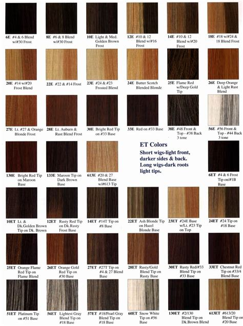 hair dye colors chart redken color chart diy colour chart hair