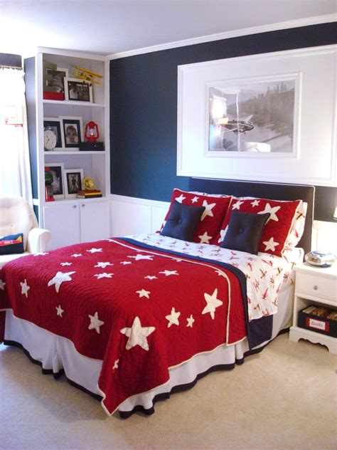 blue and red bedroom ideas 25 colorful rooms we love from hgtv fans color palette