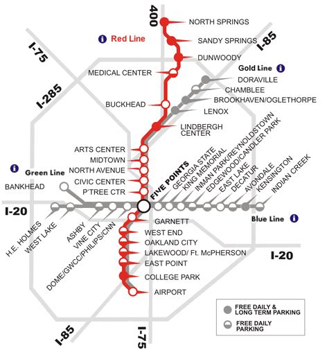 marta atlanta map marta line marta guide