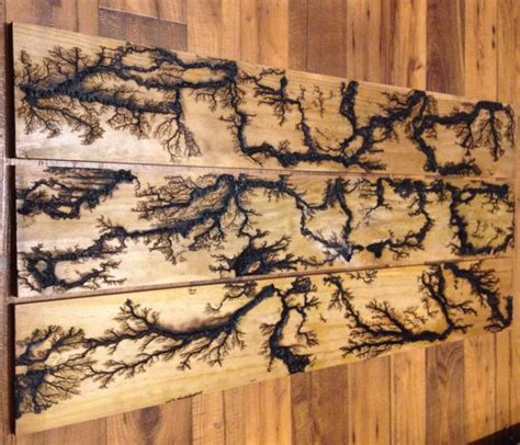 lightning pattern on wood repurposed wood wall art with lichtenberg figures