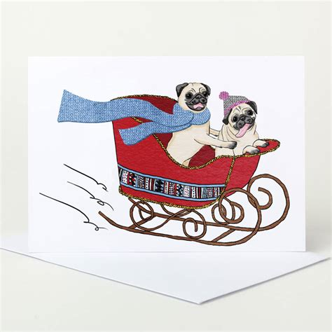 pug cards uk pug card pack sale choose four by pugyeah notonthehighstreet