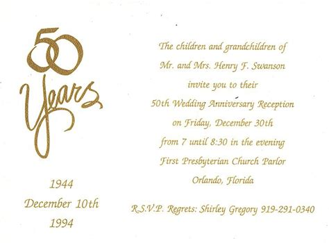 50th wedding anniversary invitation wording badbrya com