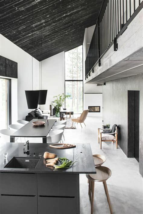 decke schwarz weiß esszimmer modern dekor