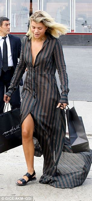 Richie Wardrobe by Sofia Richie Suffers A Nip Slip In Plunging Striped Dress