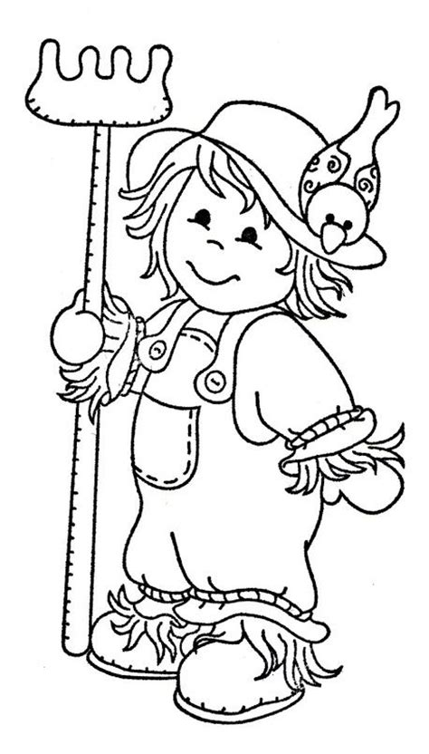 pumpkin scarecrow coloring pages gallery for gt scarecrow clipart black and white