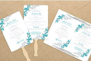 Wedding Fan Program Template by Wedding Fan Program Template By Diyweddingtemplates