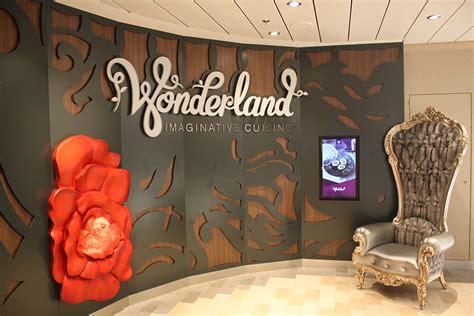 Decor Wonderland Restaurant Review Wonderland Royal Caribbean Blog