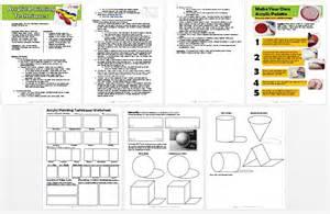 acrylic painting techniques lesson plan amp worksheet pdf