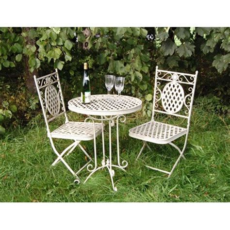 Metal Garden Table And 2 Chairs by Beau 60cm Metal Bistro Table And 2 Chairs Homegenies