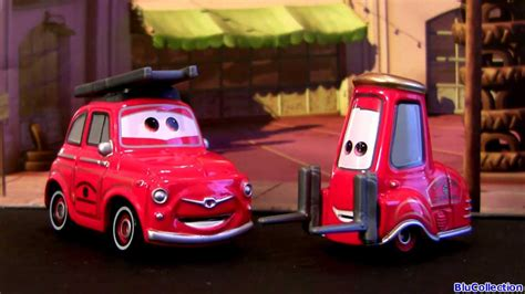 Tomica Disney Pixar Cars Rescue Gogo Ruigi Engine Type tomica cars luigi guido rescue go go engine car from takara tomy disney pixar blutoys