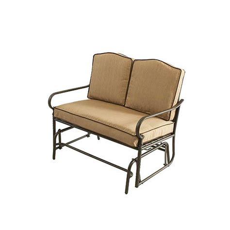 patio glider bench martha stewart living mallorca double glider patio bench