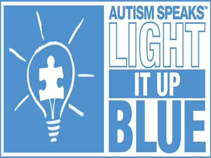 autism speaks raising awareness with light it up blue
