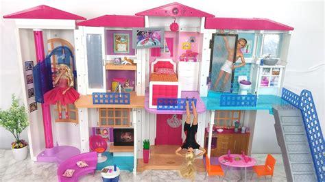 barbie house tour new barbie hello dreamhouse assembly house tour دمية باربي دريم