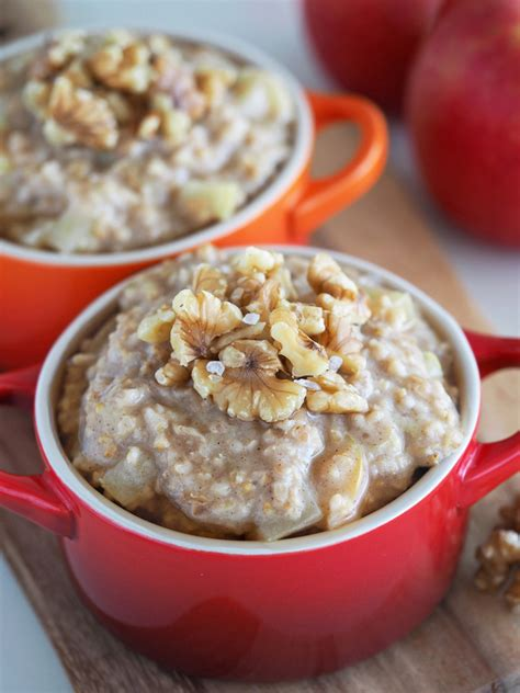 apple maple and pecan or walnut oatmeal the breakfast drama