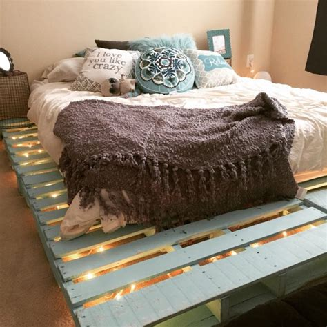 pallet bed with lights 12 genius ideas for pallet bed with lights underneath