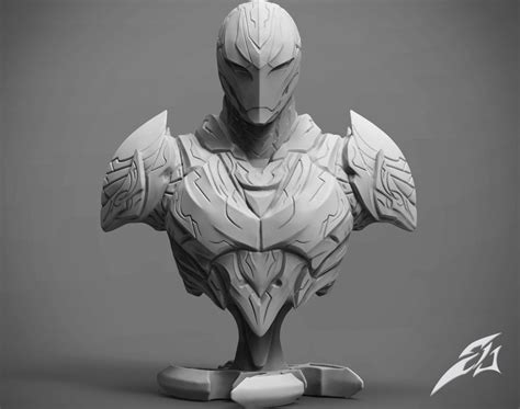 3d Models the armor bust 3d model 3d printable cgtrader