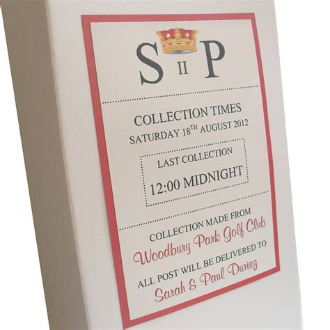 Wedding Gift Post Box by Personalised Ivory Wedding Post Box By Dreams To Reality