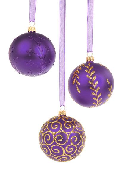 purple christmas baubles free stock photo public domain