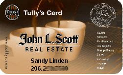 Tullys Gift Card - promotional co branding tully s