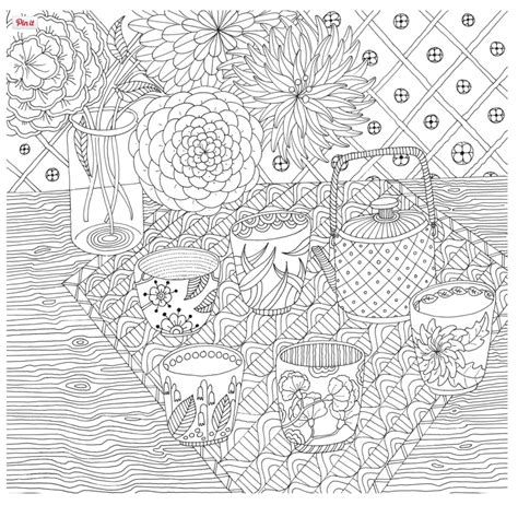 zen coloring books for adults trinadalziel zengarden tea