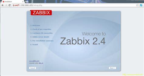 tutorial zabbix 2 4 debian installing and configuring zabbix 2 4 5 on debian 8 and