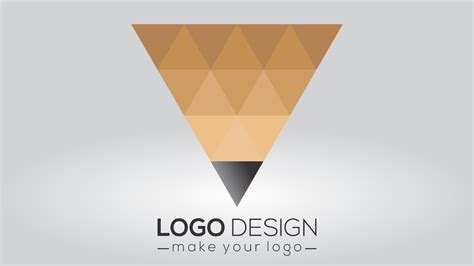 corel draw x7 logo design triangle logo design corel draw x7 tutorial youtube