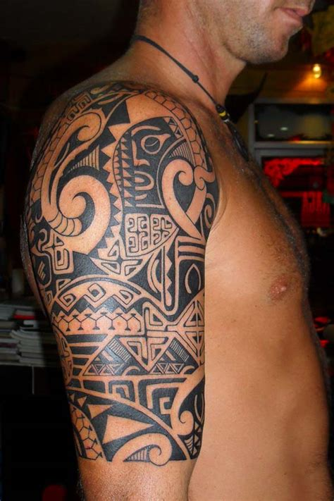 mens tribal half sleeve tattoos halaah io cool ideas for guys