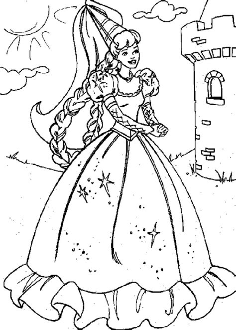 coloring page of a princess castle printable princess castle coloring page coloringpagebook