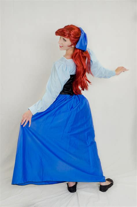 pattern for ariel blue dress ariel in blue day dress by silver fyre on deviantart