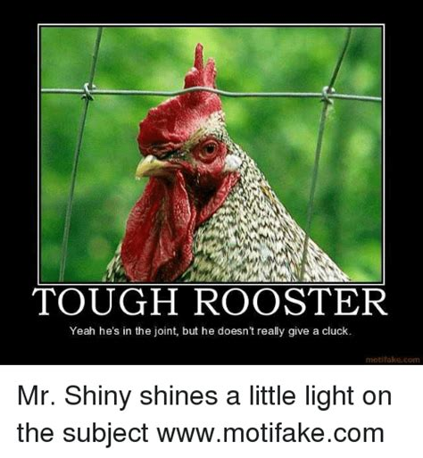 rooster meme tough rooster yeah he s in the joint but he doesn t really