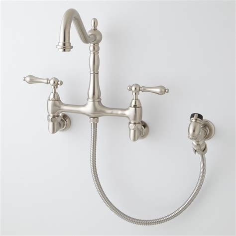kingston brass kitchen faucets kingston brass wall mount kitchen faucet home design