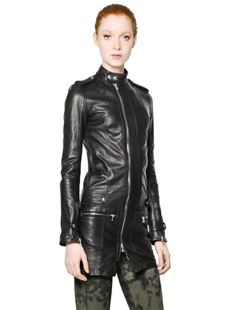 Diesel Leather Black 1 lyst diesel black gold nappa leather jacket in black for