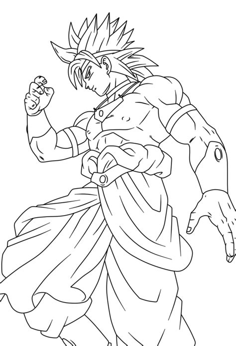 dragon ball z coloring pages of broly broly lineart 57 by prinzvegeta on deviantart