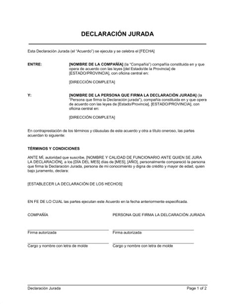 modelo actualizado de carta de no poseer vivienda formato modelo ejemplo declaracin jurada de no poseer 10