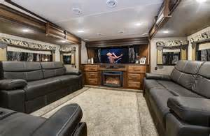 front living room 5th wheel cameo luxury fifth wheel travel trailer at crossroads rv