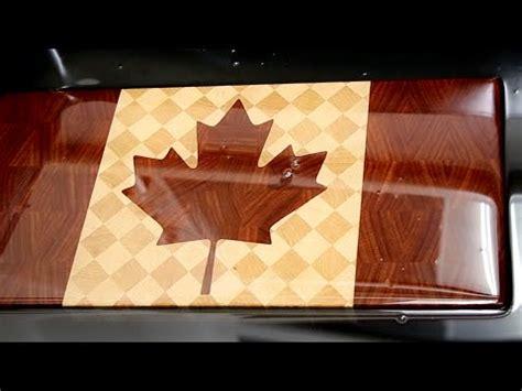 making canadian flag  grain cutting board youtube