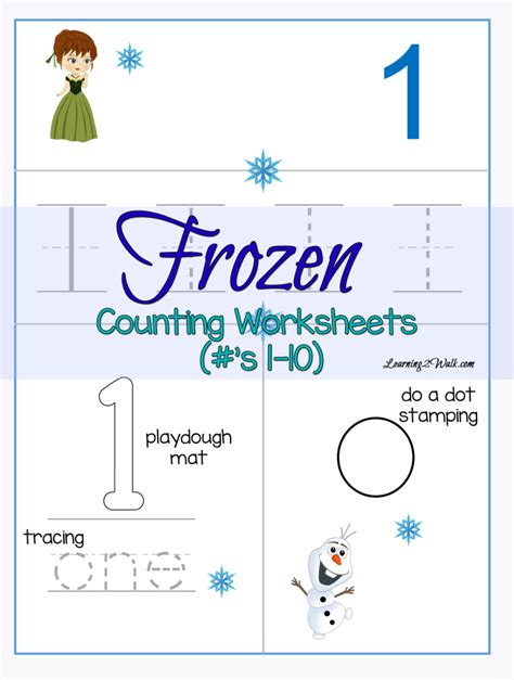 printable frozen worksheets counting frozen worksheets