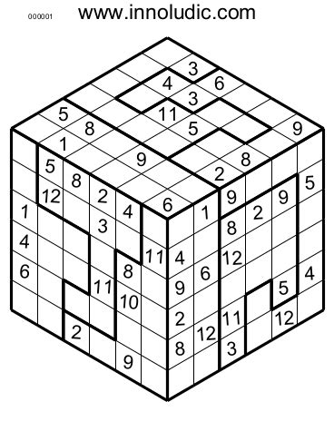 printable sudoku cube sudoko 3d 8
