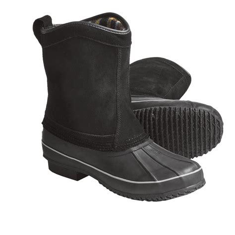 khombu boots mens khombu duck suede winter boots for 3723v save 35