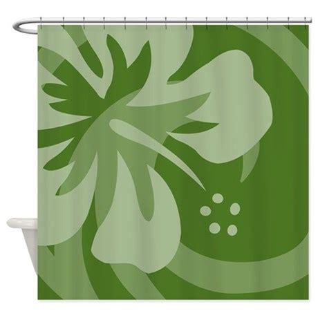 dark green shower curtain hibiscus dark green shower curtain by srfboystore