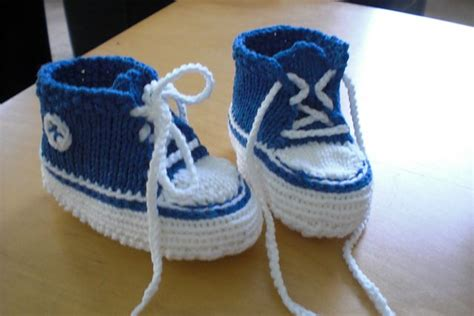 converse knitted booties pattern free pattern baby converse baby booties