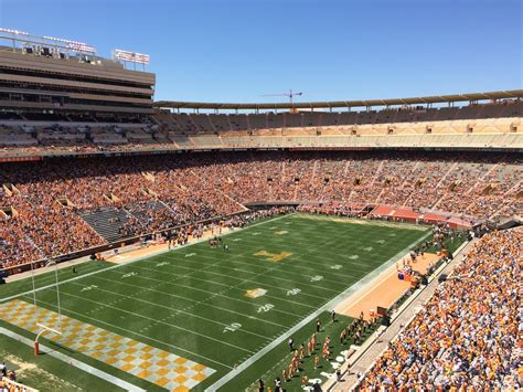 neyland stadium visitors section neyland stadium section hh rateyourseats com